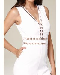 Bebe - White Genevieve Jumpsuit - Lyst