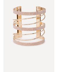 Bebe - Multicolor Glitter Metal Cuff - Lyst