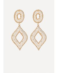 Bebe - Metallic Filigree Statement Earrings - Lyst