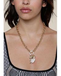 Bebe - Multicolor Logo Charm Necklace - Lyst
