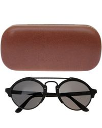 Illesteva | Black Milan Ii In Matte Sunglasses | Lyst