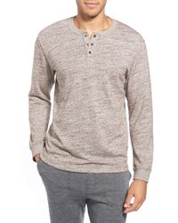 UGG | Natural 'galen' Cotton Blend Henley for Men | Lyst