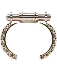 Givenchy - Metallic Brass Obsedia Bar Cuff - Lyst