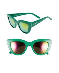 Steve Madden | Green 51mm Cat Eye Sunglasses | Lyst