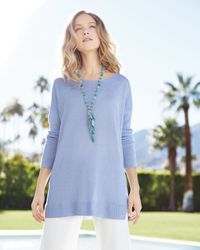 Devon Leigh | Blue Turquoise Station Fringe Necklace | Lyst