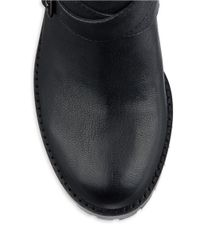 424 Fifth | Black Walcott Leather Ankle Boots | Lyst