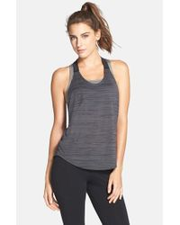 Nike | Gray 'elastika' Logo T-back Tank | Lyst