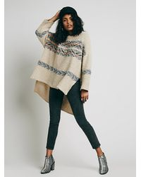 Free People | Natural Alpaca Fairisle Tunic Sweater | Lyst