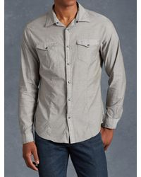 John Varvatos | Gray Cotton Utility Shirt for Men | Lyst