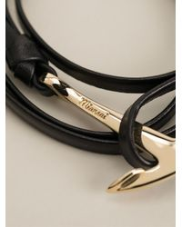 Miansai | Black Anchor Bracelet | Lyst