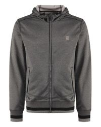 Bench | Gray Crosskey Plain Zip-thru Hoodie for Men | Lyst