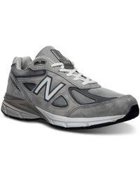 New Balance | Gray Men's 990v4 Running Sneakers From Finish Line for Men | Lyst