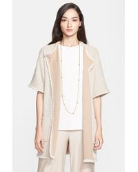 St. John | Natural Mini Paper Eyelash Tweed Knit Jacket | Lyst