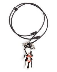 Marni - Black Doll Rope Necklace - Lyst