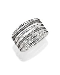 Ippolita - Metallic Stella Diamond & Sterling Silver Five-Row Solid Stack Ring for Men - Lyst