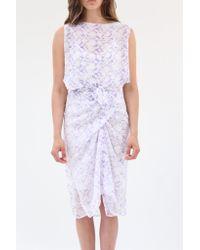 485c9c00f95 Lyst - Beklina Silk Sapporo Wrap Dress Grape Lace Print