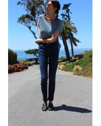 Mother - Blue Denim High Waisted Looker / Clean Sweep - Lyst