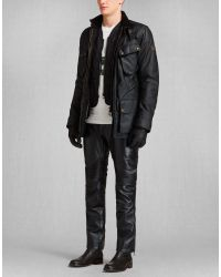 Belstaff - Lambfell Vest In Black Polyamide for Men - Lyst