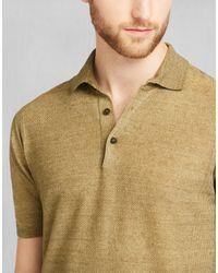 Belstaff - Yellow Kash Polo Sweater for Men - Lyst