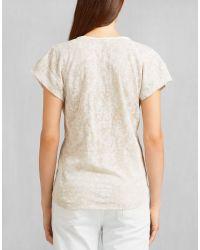 Belstaff - Natural Barrosa Scoop Neck T-shirt - Lyst