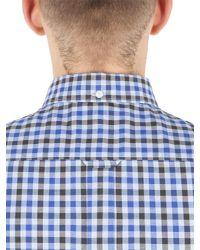 Ben Sherman - Blue House Gingham Check Long Sleeve Shirt for Men - Lyst