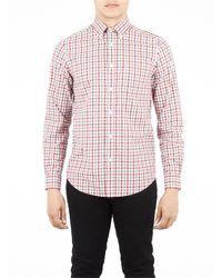 Ben Sherman - Red House Gingham Check Long Sleeve Shirt for Men - Lyst