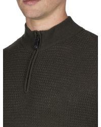 Ben Sherman - Multicolor Micro Texture Quater Zip Funnel Neck for Men - Lyst