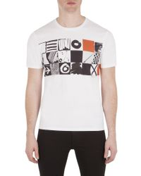 Ben Sherman - White O`s And X`s Checkerboard Tee for Men - Lyst
