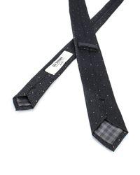 Ben Sherman - Black Herringbone Polka Dot Tie for Men - Lyst