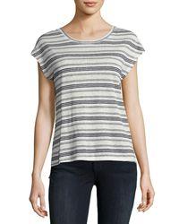 Joie - Blue Kinsley Striped Linen Top - Lyst