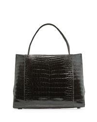 Nancy Gonzalez - Black Crocodile Tote Bag - Lyst