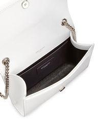 Saint Laurent - White Kate Monogram Grain Leather Medium Crossbody Bag - Lyst