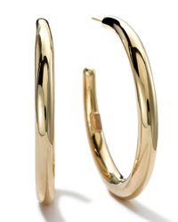 Ippolita - Metallic 18k Gold #3 Smooth Hoop Earrings - Lyst