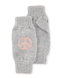 Rosie Sugden - Gray Peace & Love Cashmere Wrist Warmers - Lyst