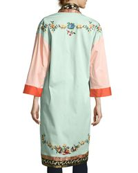 Alice + Olivia - Multicolor Amelia Oversized Embroidered Coat - Lyst