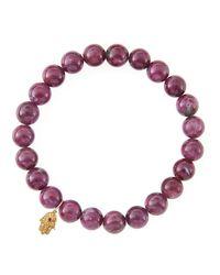 Sydney Evan - Red Design Your Own Bracelet (made To Order) - Lyst