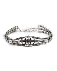 DANNIJO - Metallic Augere Crystal Choker Necklace - Lyst