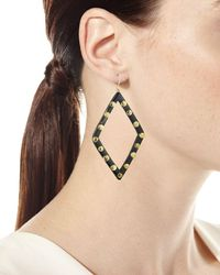 Ashley Pittman - Brown Mila Dark Horn Drop Earrings - Lyst
