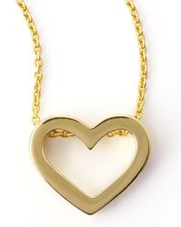 Roberto Coin - Metallic 18k Yellow Gold Heart Necklace - Lyst