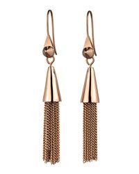 Eddie Borgo - Metallic Small Rose Gold Plated Chain Tassel Drop Earrings - Lyst