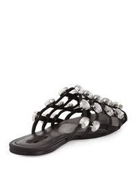Alexander Wang - Black Amelia Jewel-studded Leather Mule - Lyst