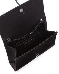 Saint Laurent - Black Monogram Kate Sequined Chain Bag - Lyst