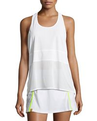 Monreal London - White Scoop-neck Racerback Performance Tank - Lyst