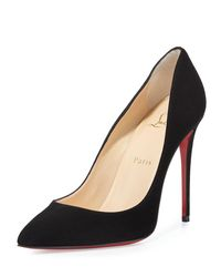 Christian Louboutin | Pigalle Follies Suede Red Sole Pump | Lyst