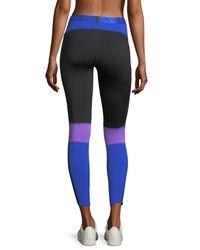 Monreal London - Blue Energy Colorblocked Performance Leggings - Lyst