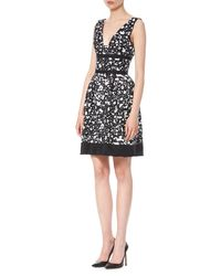 Carolina Herrera - Multicolor Sleeveless Splatter-print Dress - Lyst