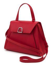 Akris - White Alba Framed Saffiano Top Handle Bag - Lyst