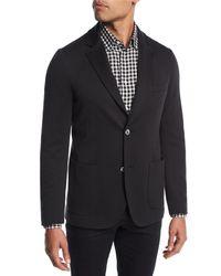 Brioni - Black Cotton-silk Knit Blazer for Men - Lyst