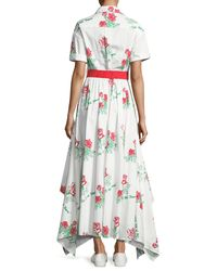 Rosie Assoulin - Red Waiting For Godet Shirtdress - Lyst