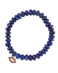 Sydney Evan - Blue Design Your Own Bracelet (made To Order) - Lyst